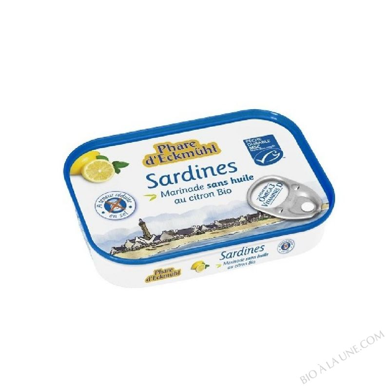 Sardines marinade sans huile citron bio