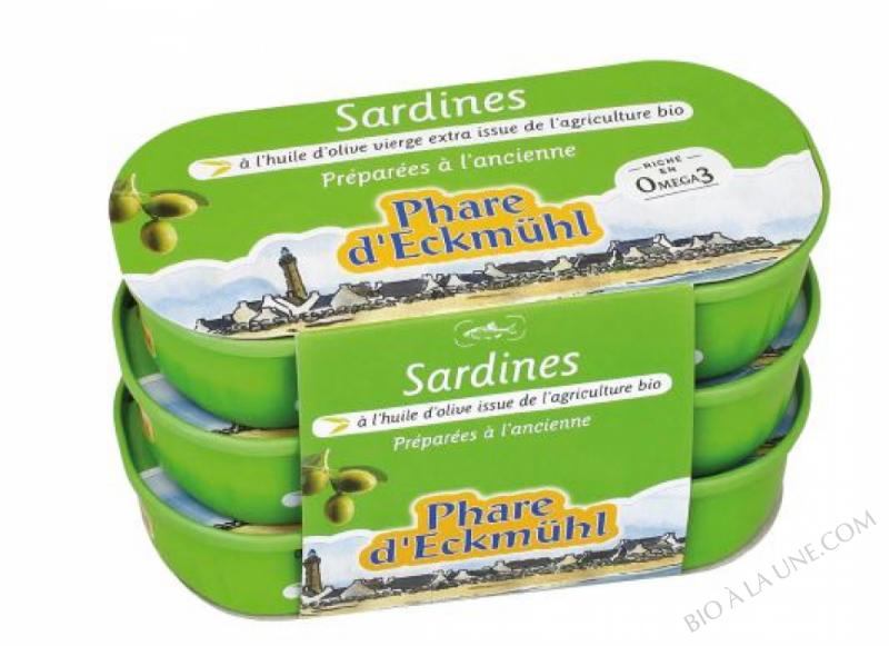 sardines par lot de 3 - 3 x 55 g