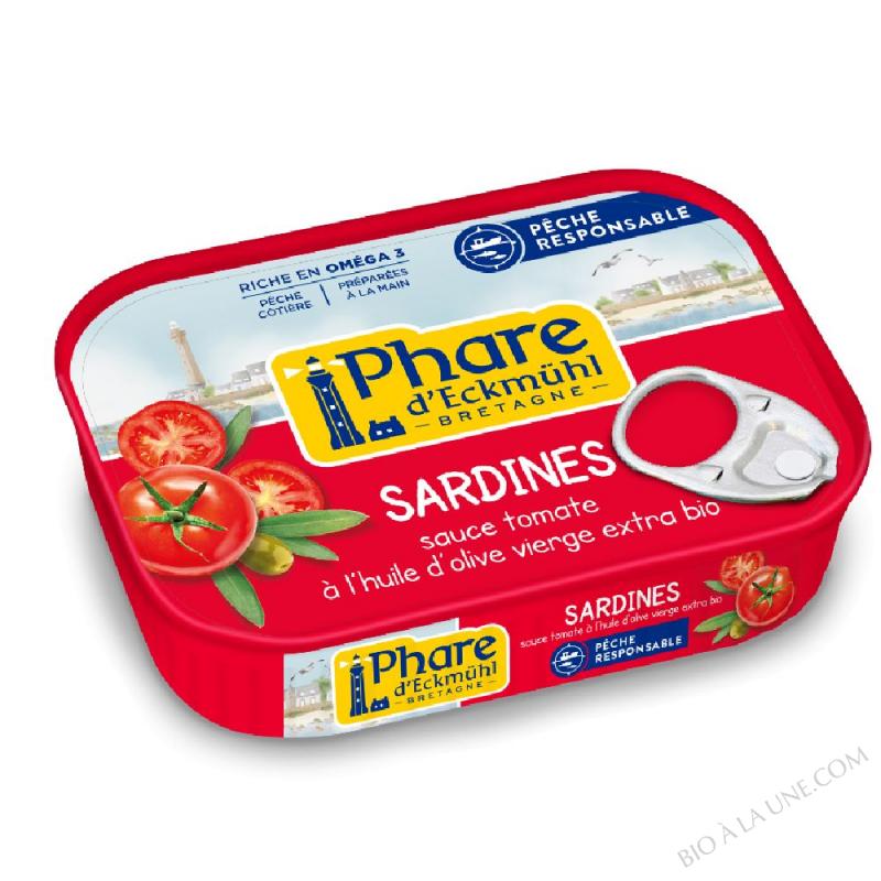 Sardines à la sauce tomate bio