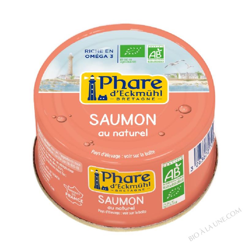 Saumon bio au naturel