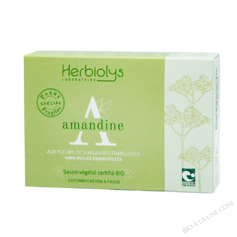 Savon à froid Amandine certifié BIO sans huiles essentielles