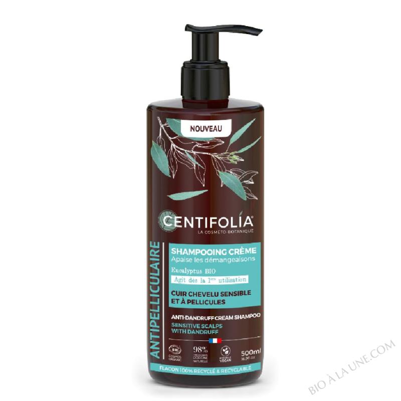 Shampooing crème ANTIPELLICULAIRE Cuir chevelu sensible et à pellicules 500mL