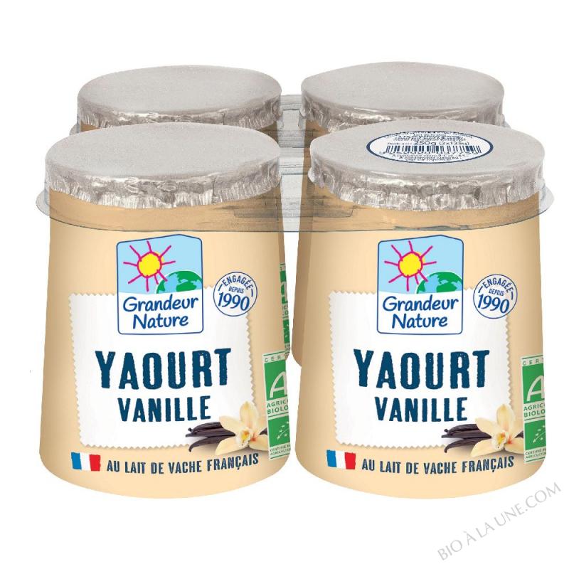 Yaourt au lait entier bio vanille 4 x125 g