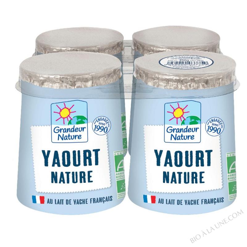 Yaourt au lait entier bio nature 4 x125 g