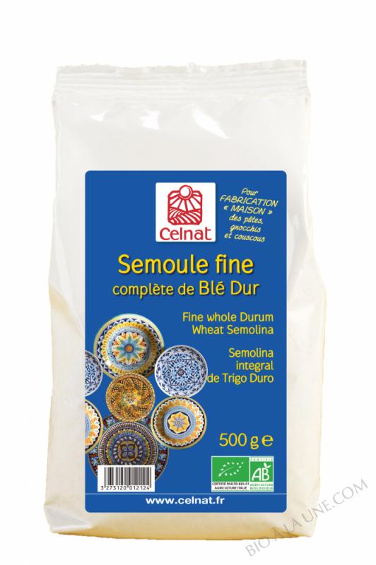 CELNAT Semoule complète de Blé Dur BIO 500g