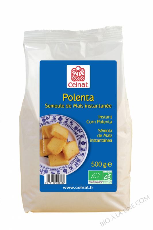 CELNAT Polenta - Semoule de Maïs instantanée BIO - 500g