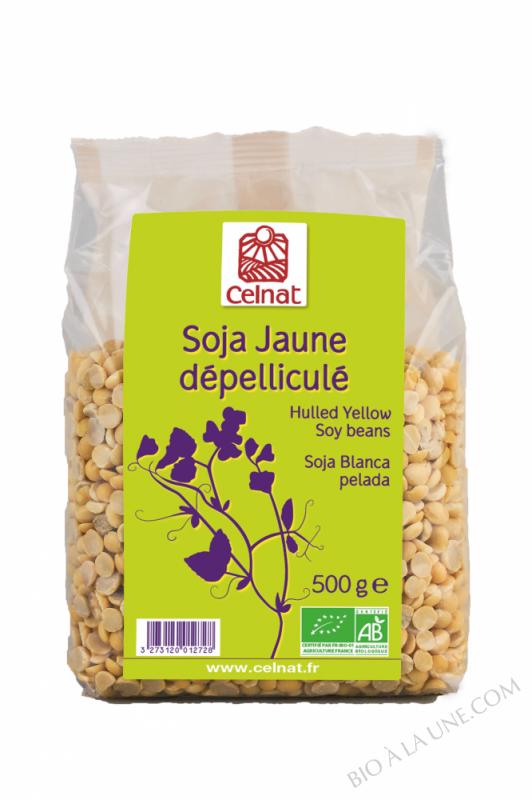 CELNAT Soja Jaune dépelliculé BIO  Origine France- 500g