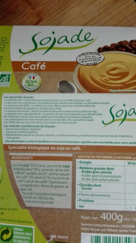 SOJADE CAFE 4 X 100G