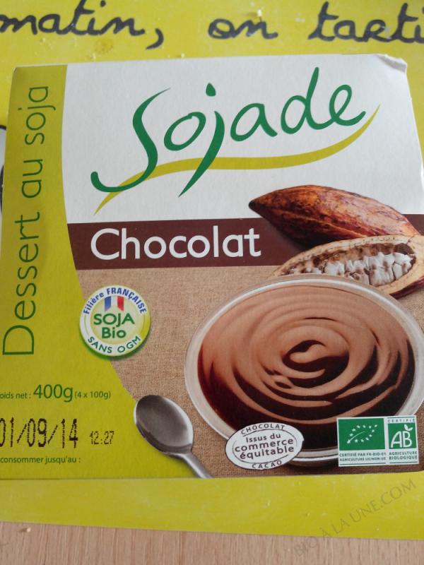 SOJADE CHOCOLAT 4 X 100G