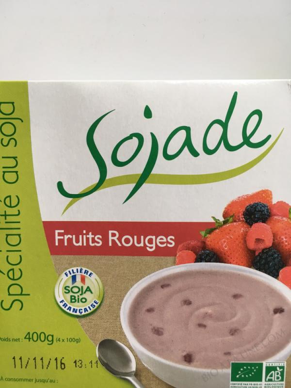 SOJADE FRUITS ROUGES 4 X 100G