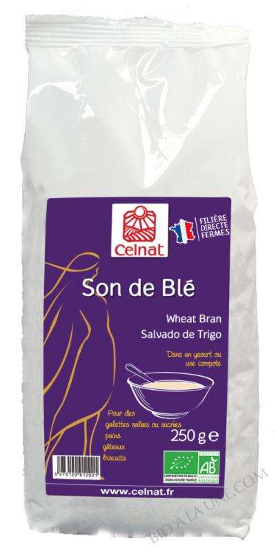 CELNAT Son de Blé Origine France BIO - 250g