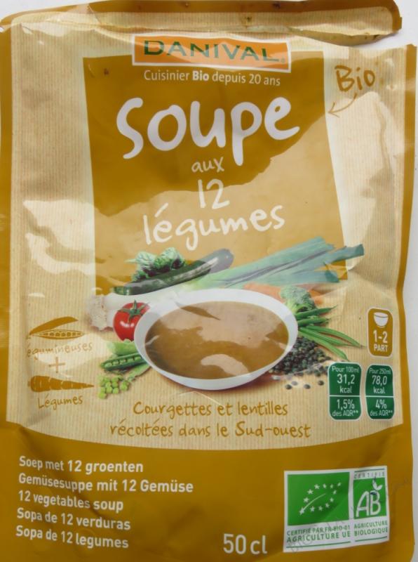 Soupe 12 legumes BIO 500ml