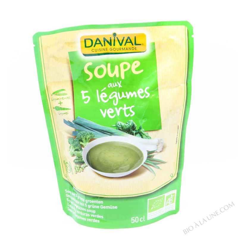 SOUPE 5 LEGUMES VERTS 50CL DANIVAL