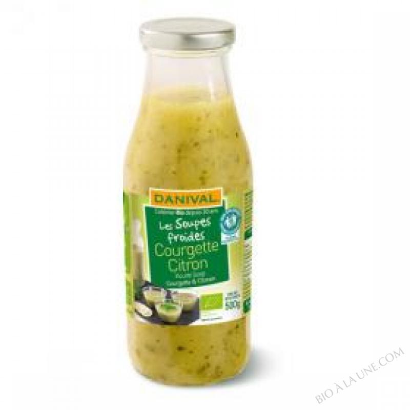 Soupe froide Courgette Citron Bio 500g