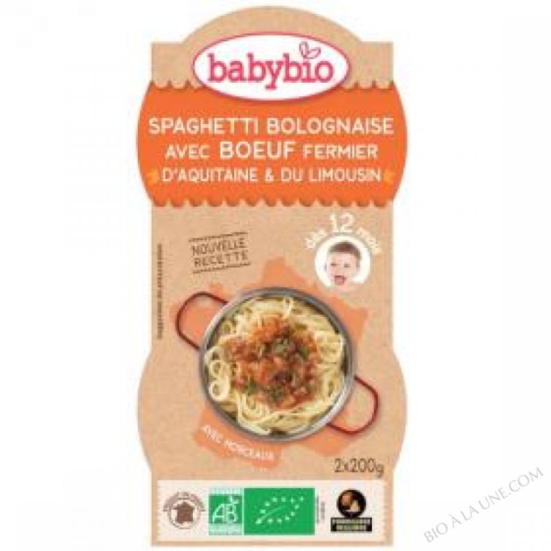 2 Bols Spaghetti Bolognaise Dès 12 mois