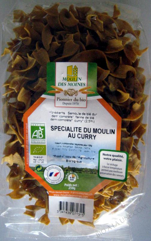 Pâtes Ble Curry BIO 250g