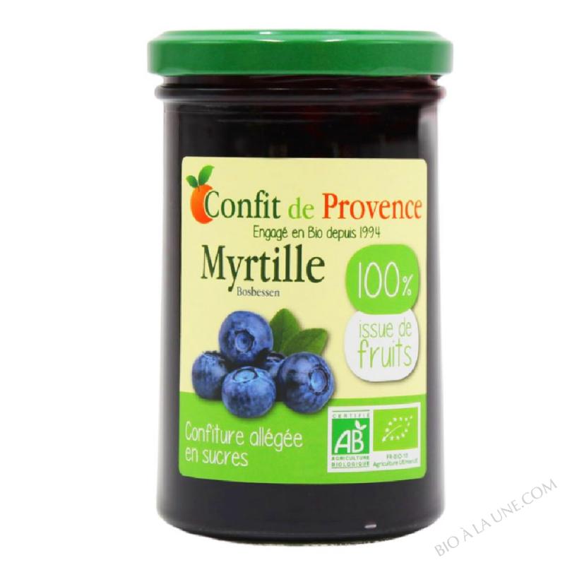 Confiture de Myrtille Allegee BIO 290g
