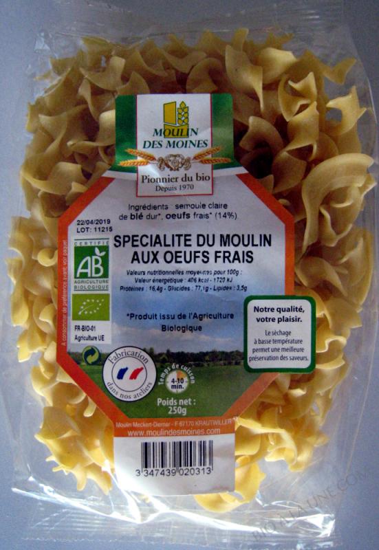 Spécialité aux œufs frais 14% - Tagliatelles - 250 g