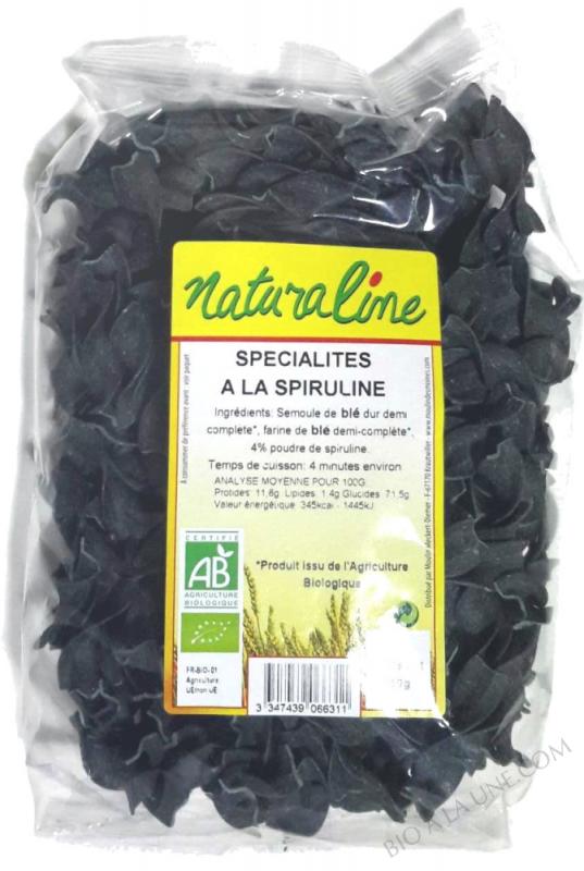 Spécialité à la spiruline (algue d'eau douce) - Pâtes demi-complètes - 250 g