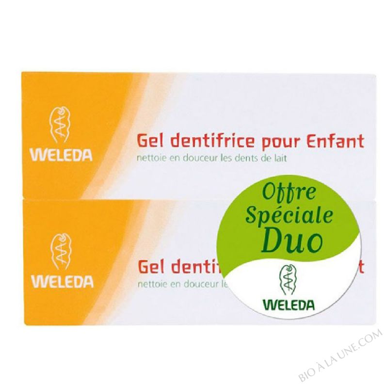 STOPDUO DENTIFRICE GEL ENFANTS 50ML WELEDA