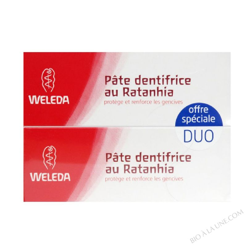 Lot de 2 Dentifrices Ratanhia 75ml