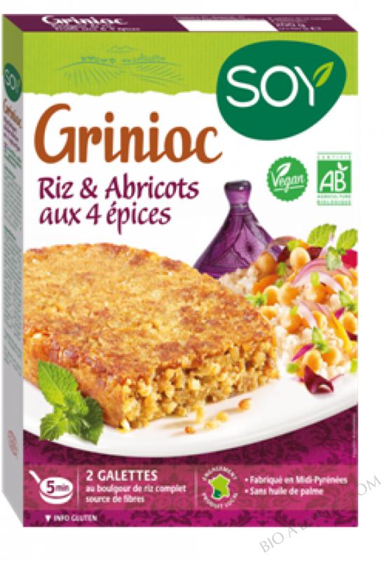 GRINIOC BOULGOUR DE RIZ, FRUITS SECS & 4 ÉPICES - 2 X 100 G