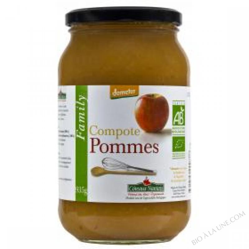 La compote de pommes Bio et Demeter 935g