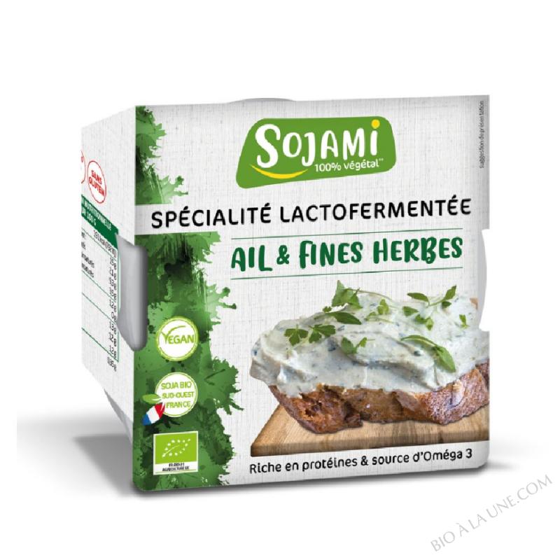 SOJAMI À TARTINER AIL ET FINES HERBES 125G