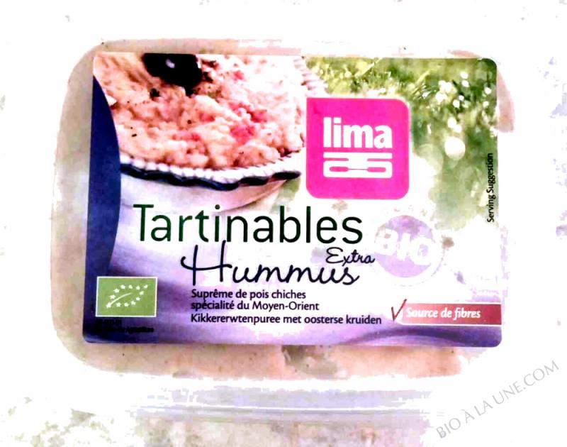 TARTINABLES HUMMUS EXTRA X0G LIMA