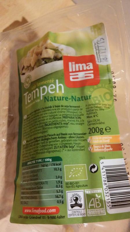 TEMPEH FRAIS NATURE 200G LIMA