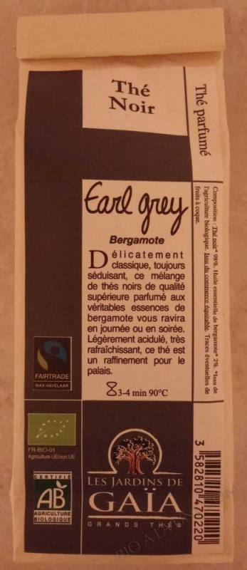 THE NOIR EARL GREY 100G LES JARDINS DE GAIA