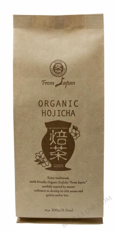 CELNAT - Thé japonais Hojicha - Feuilles grillées (Camellia Sinensis) - BIO - 100g