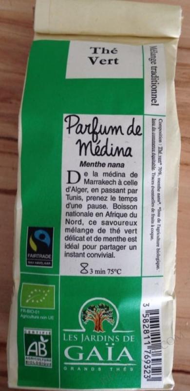 The vert PARFUM DE MEDINA