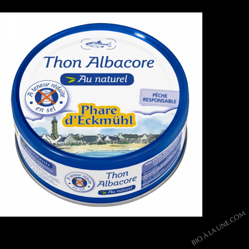Thon albacore au naturel à teneur réduite en sel