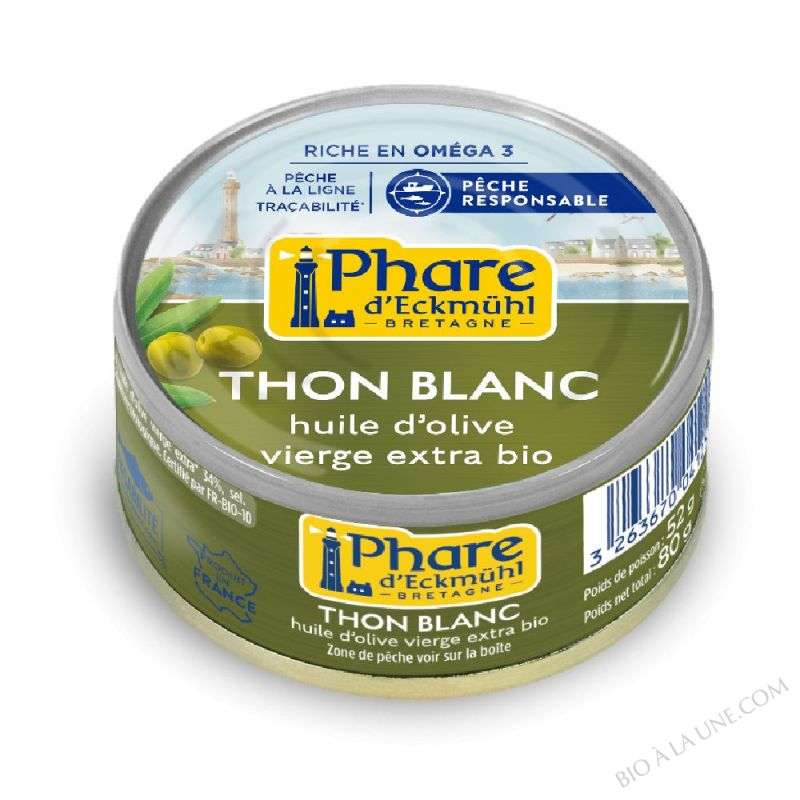 Thon blanc à huile d'olive bio 80g
