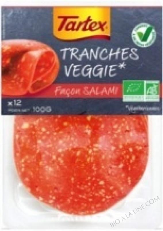 TRANCHES VEGGIE FACON SALAMI - 100 G
