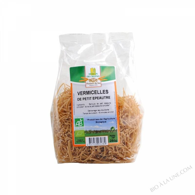 Vermillettes de petit épeautre - Pâtes Complètes - 250 g