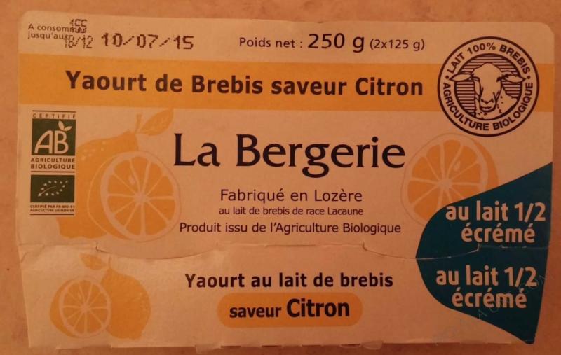Yaourt de Brebis saveur Citron- 250 g (2 x 125 g)