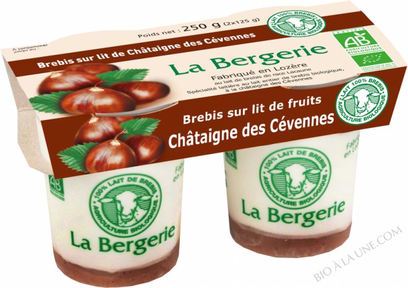 YAOURT BREBIS A LA CHATAIGNE 2X125G LA BERGERIE