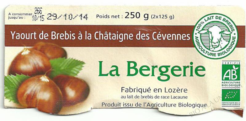 Yaourt de Brebis à la Châtaigne des Cévennes- 250 g (2 x 125 g)