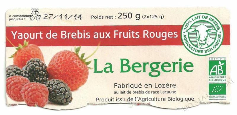 Yaourt de Brebis aux Fruits Rouges- 250g