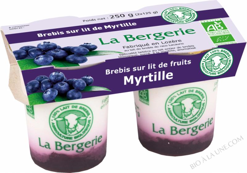 YAOURT BREBIS A LA MYRTILLE 2X125G LA BERGERIE