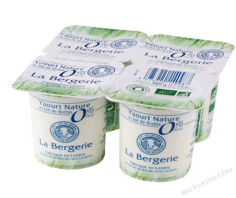 YAOURT BREBIS NATURE 0% 4X120G LA BERGERIE
