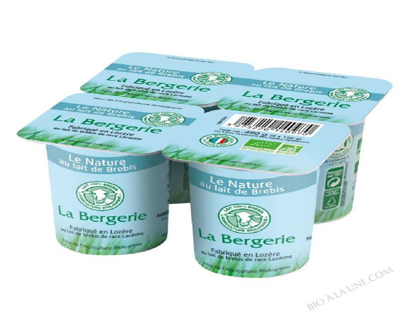 YAOURT BREBIS NATURE 4X120G LA BERGERIE
