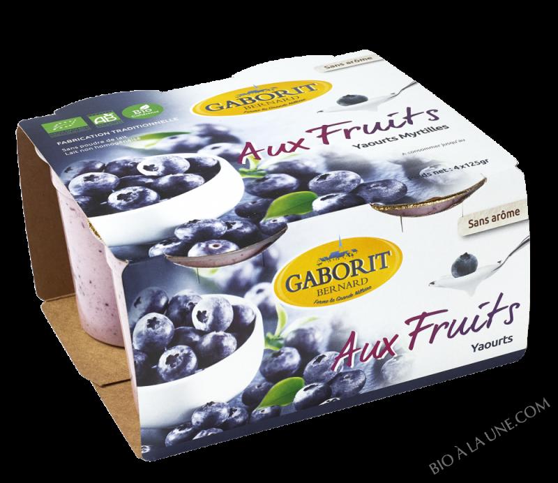 YAOURTS AUX FRUITS MYRTILLES 4X125G