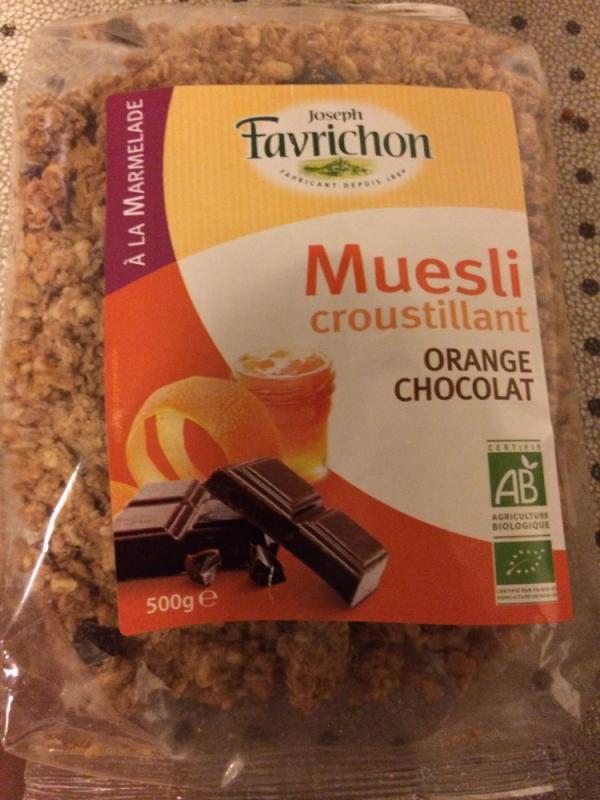 muesli croustillant orange chocolat- 500g