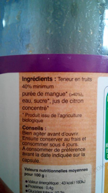 Les jus de producteur -  mangue amelie  - 75 cl