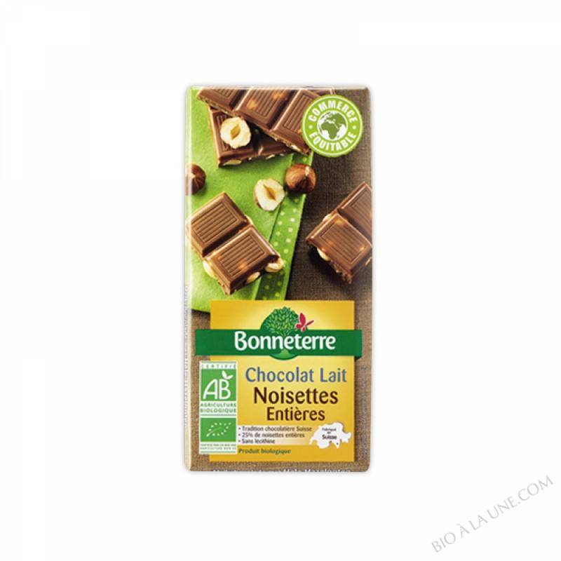 Chocolat Lait Noisettes Entieres 100gr