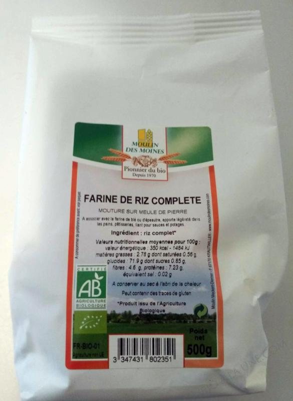 Farine de riz complete bio - 500g