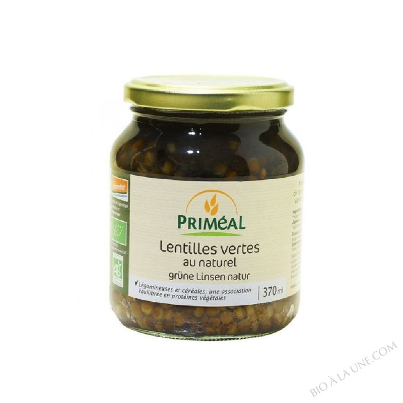 Lentilles vertes au naturel - 370ml